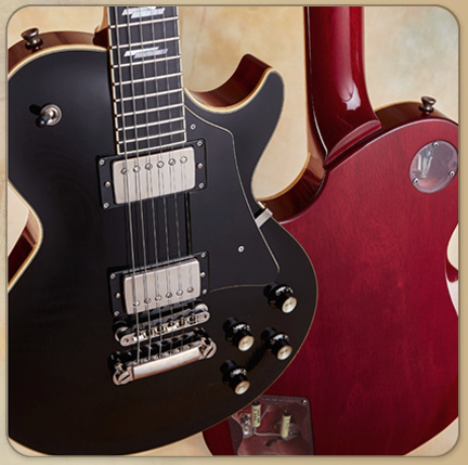 Collings Custom CL Deluxe, Aged Black/Cherry
